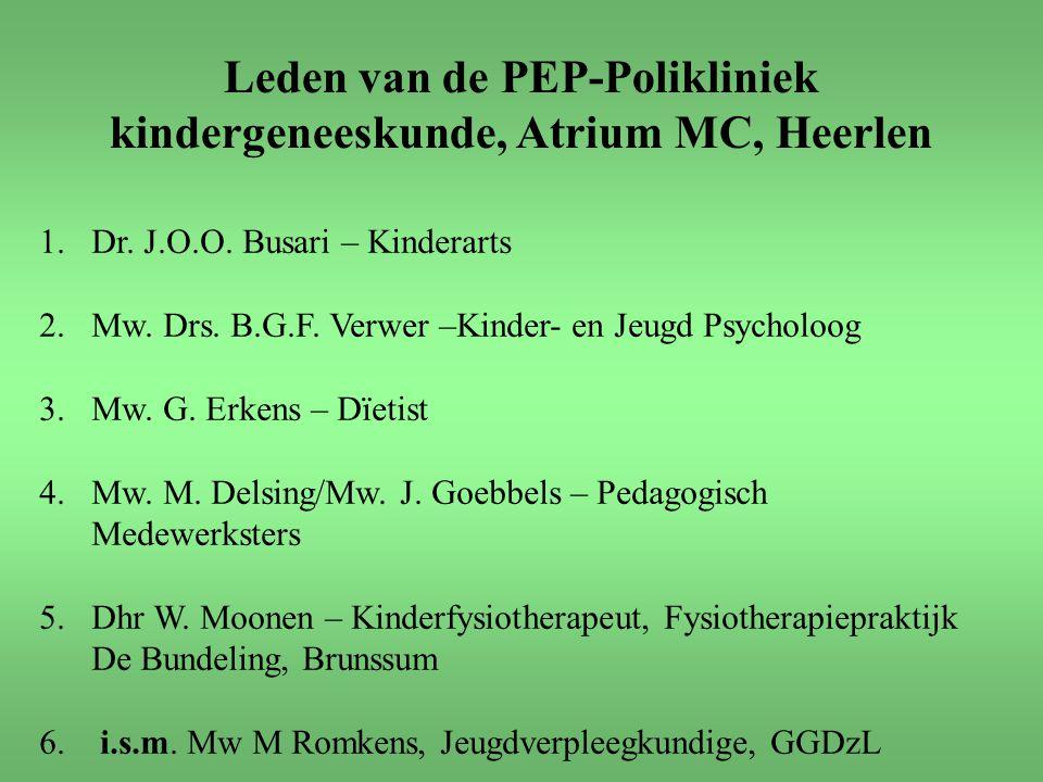 Leden van de PEP-Polikliniek kindergeneeskunde, Atrium MC, Heerlen