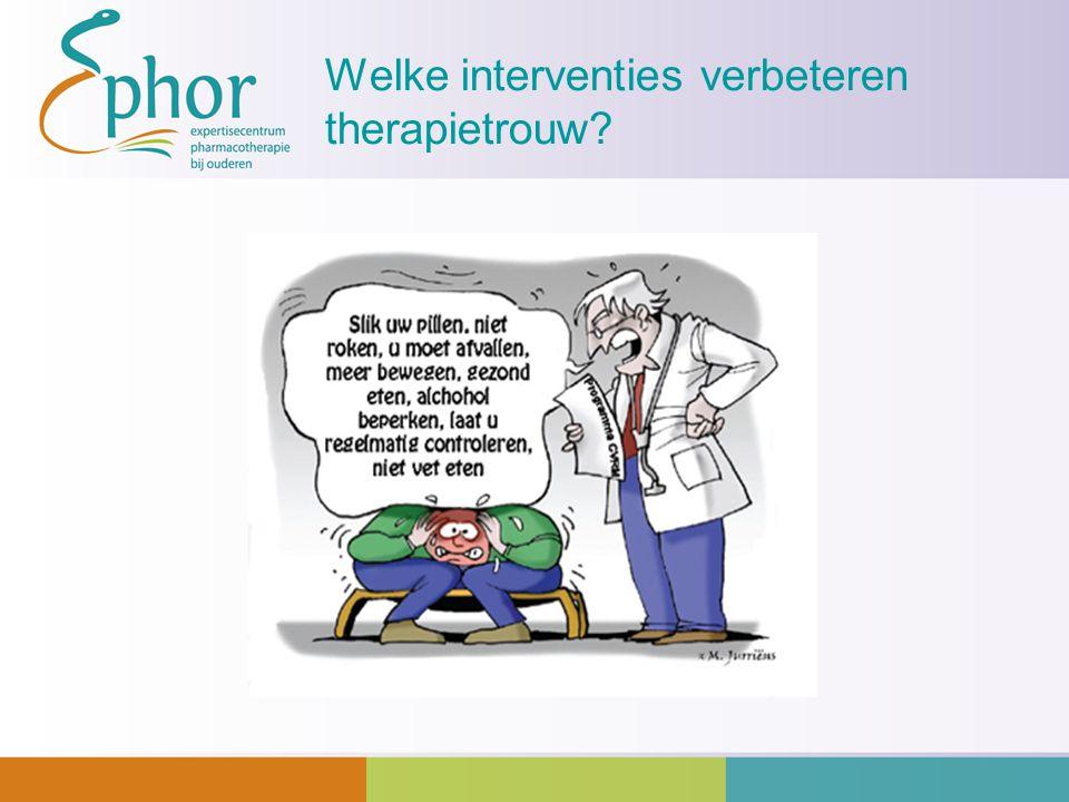 Welke interventies verbeteren therapietrouw