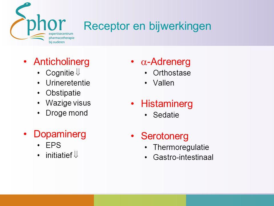 Receptor en bijwerkingen