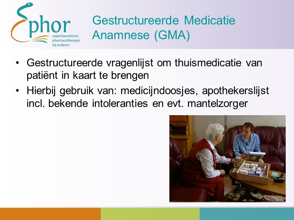 Gestructureerde Medicatie Anamnese (GMA)