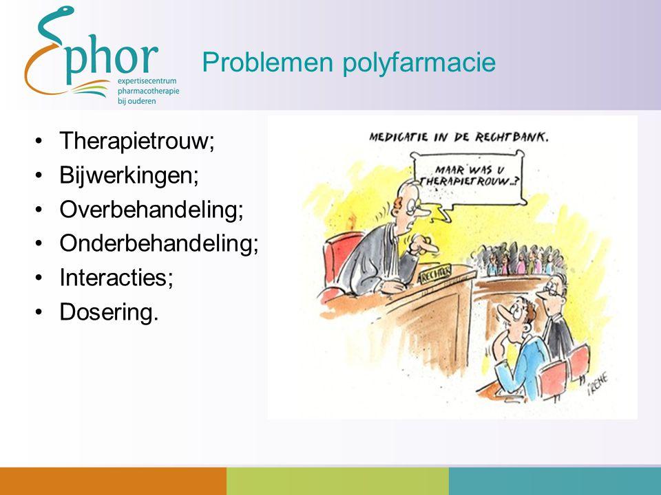 Problemen polyfarmacie