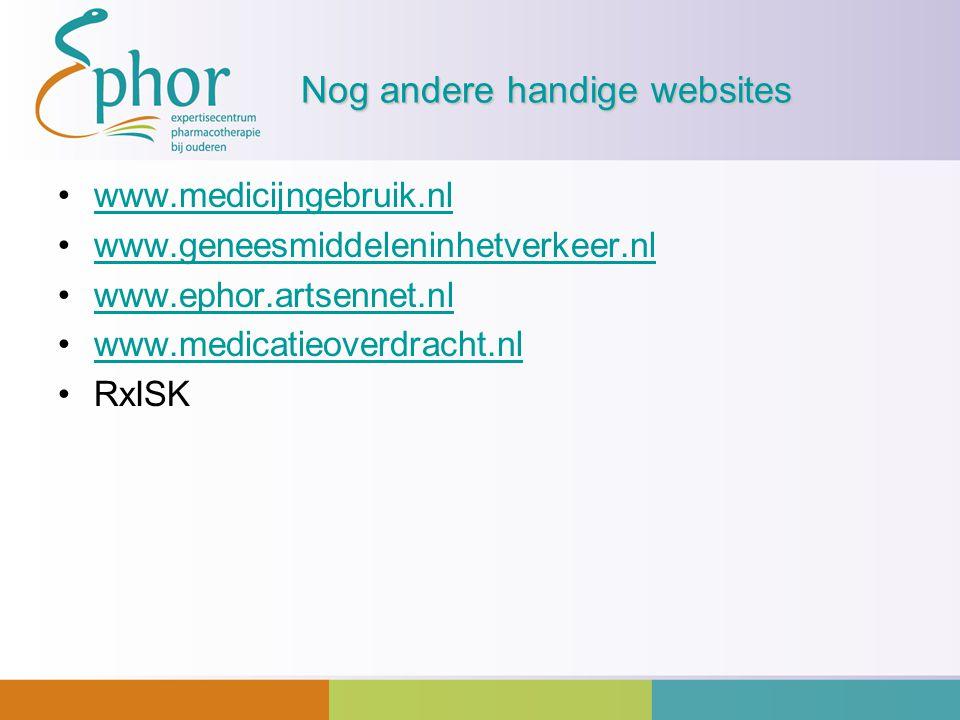 Nog andere handige websites