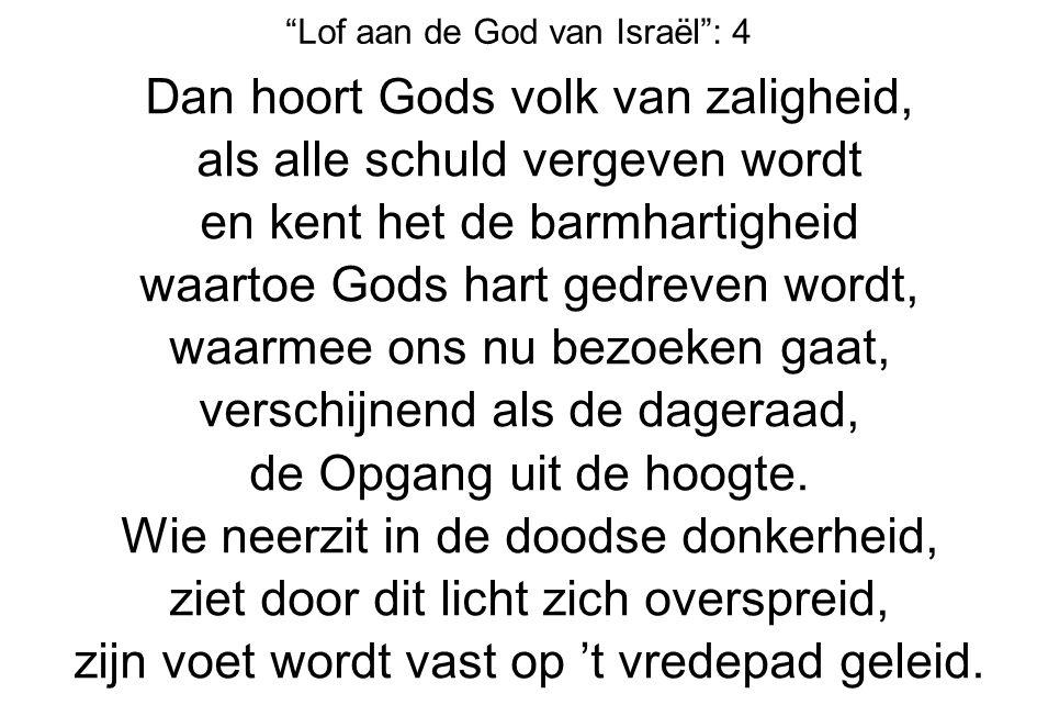 Lof aan de God van Israël : 4