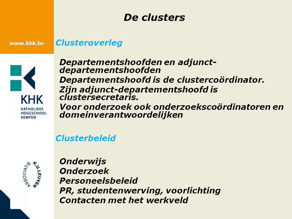 De clusters Clusteroverleg