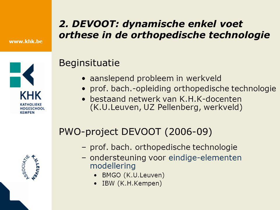 PWO-project DEVOOT (2006-09)