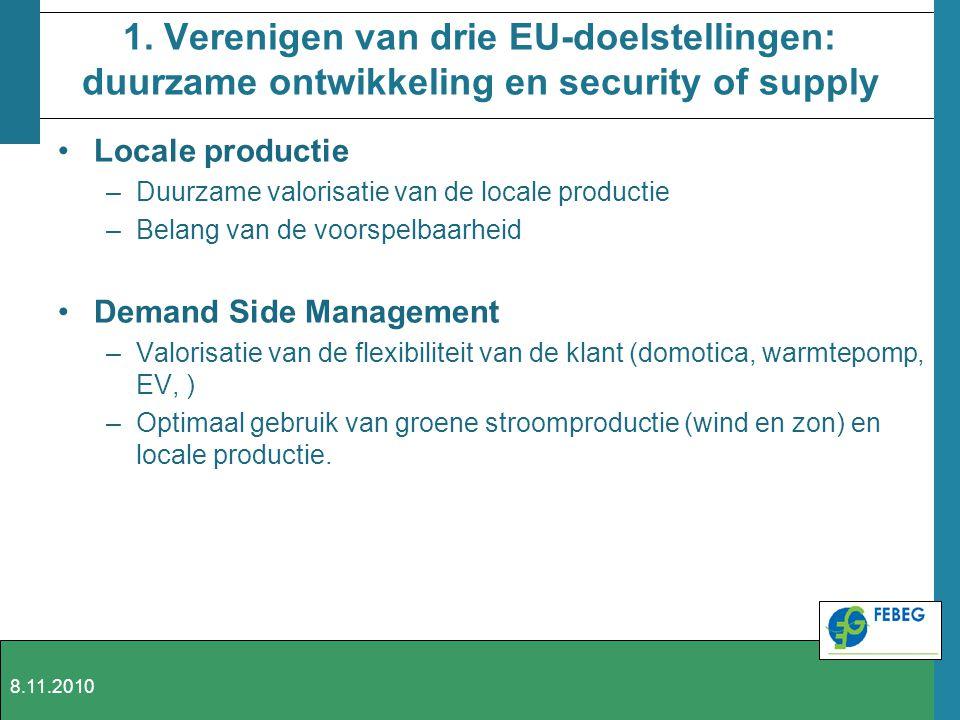 1. Verenigen van drie EU-doelstellingen: duurzame ontwikkeling en security of supply