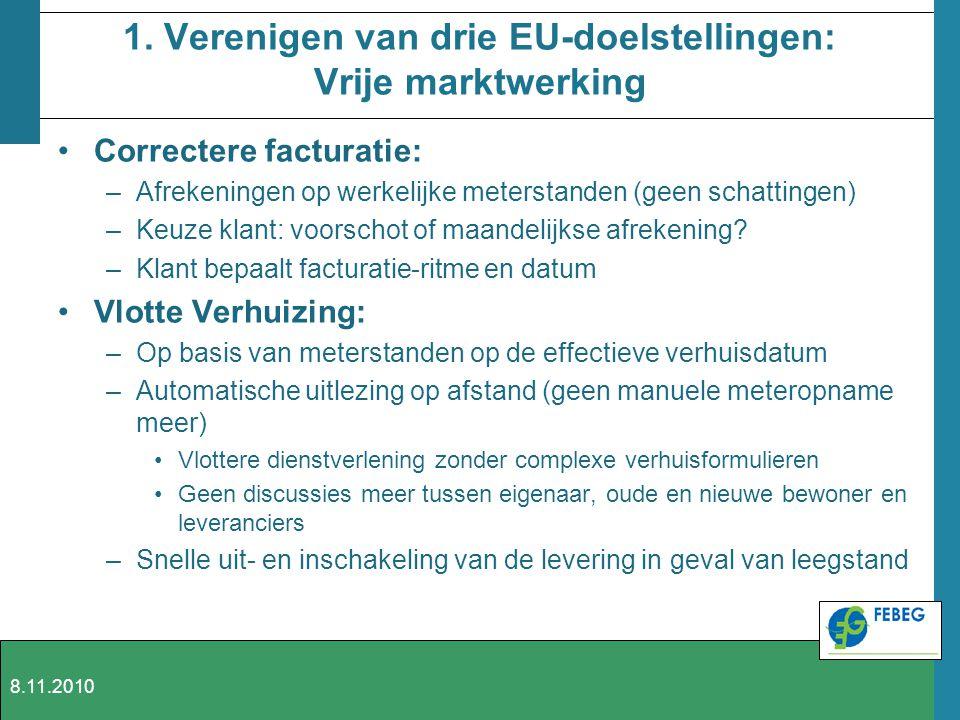1. Verenigen van drie EU-doelstellingen: Vrije marktwerking