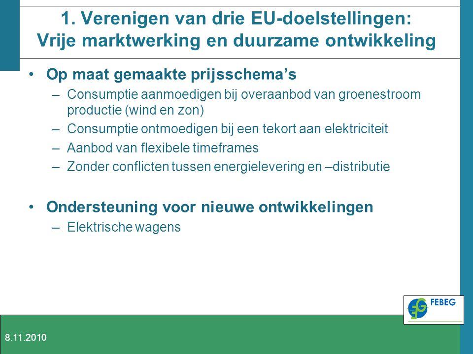 1. Verenigen van drie EU-doelstellingen: Vrije marktwerking en duurzame ontwikkeling