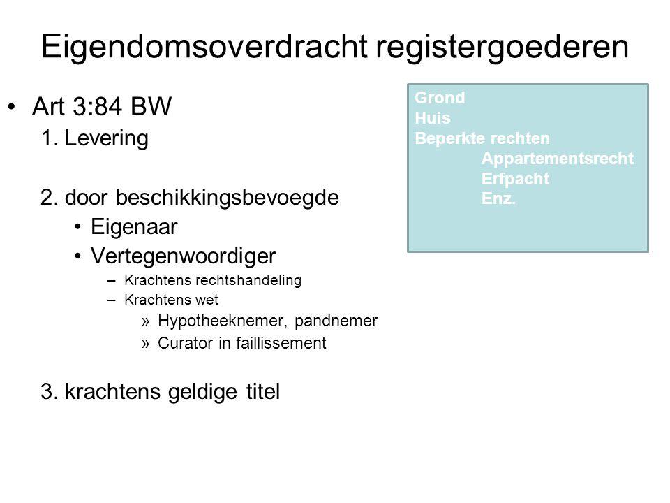 Eigendomsoverdracht registergoederen