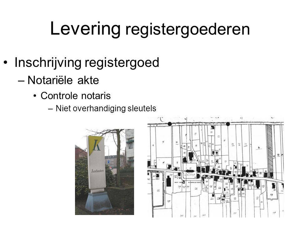 Levering registergoederen