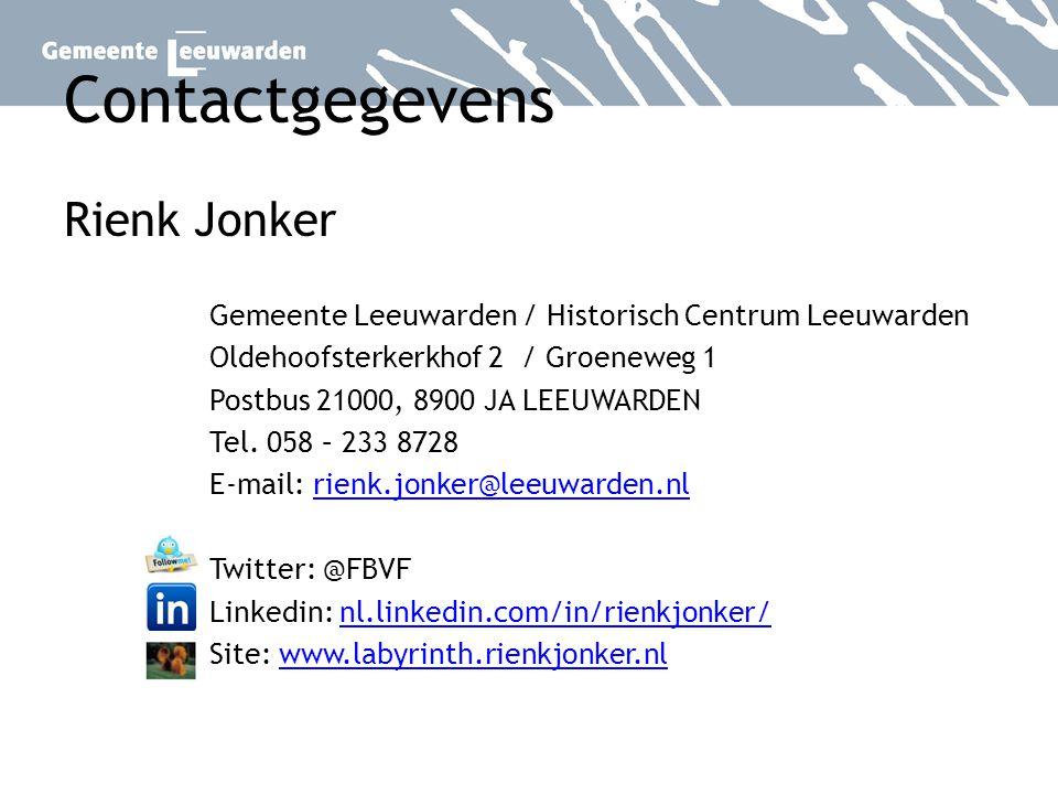 Contactgegevens Rienk Jonker