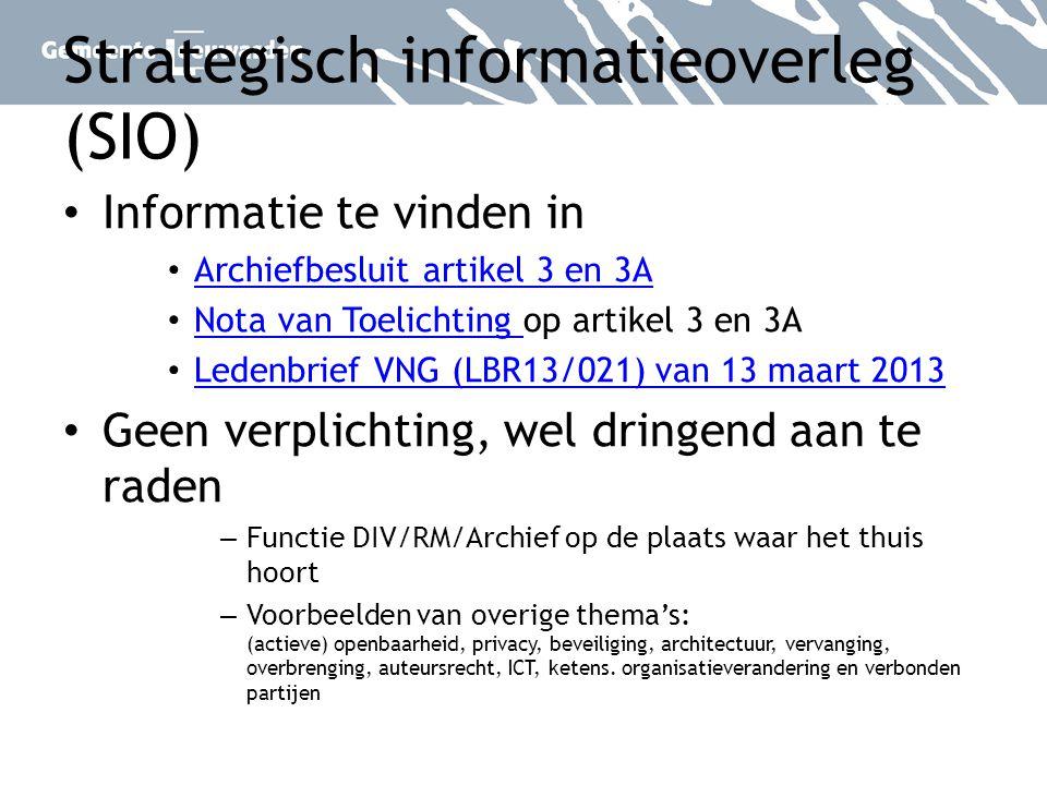 Strategisch informatieoverleg (SIO)