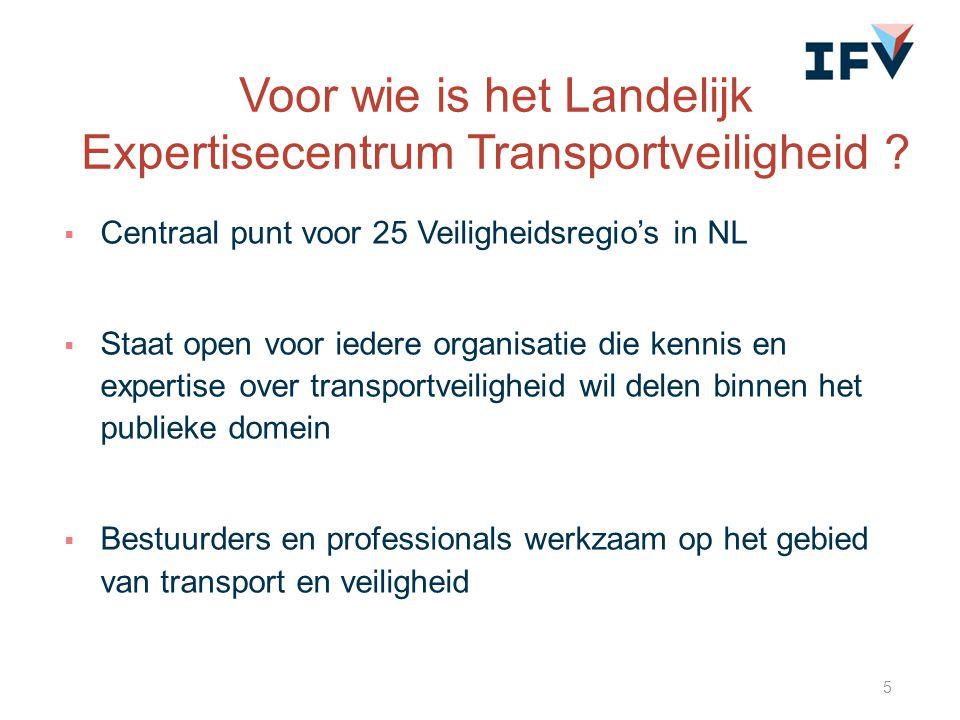 Voor wie is het Landelijk Expertisecentrum Transportveiligheid