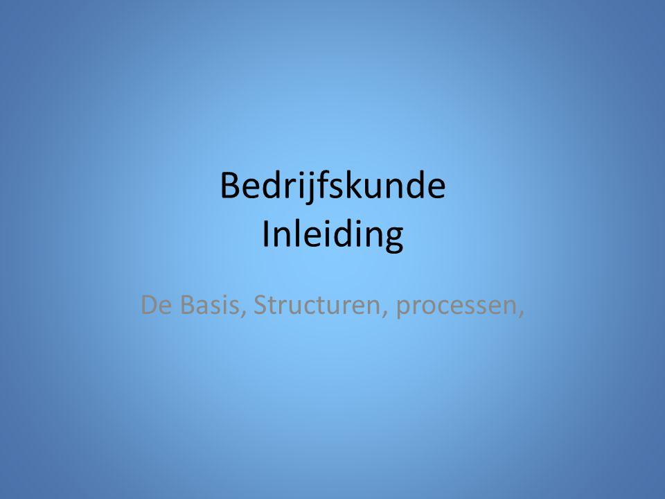 Bedrijfskunde Inleiding