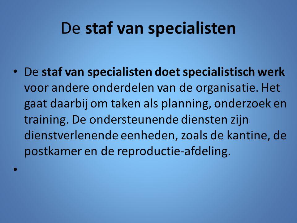 De staf van specialisten