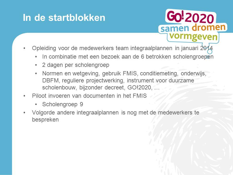 In de startblokken Opleiding voor de medewerkers team integraalplannen in januari 2014.