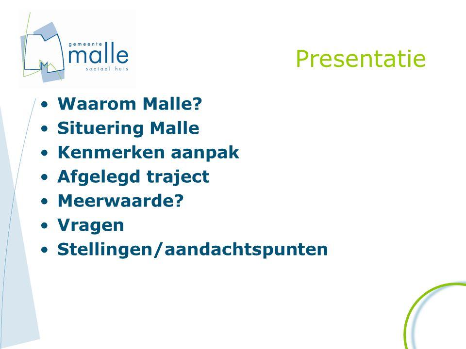 Presentatie Waarom Malle Situering Malle Kenmerken aanpak