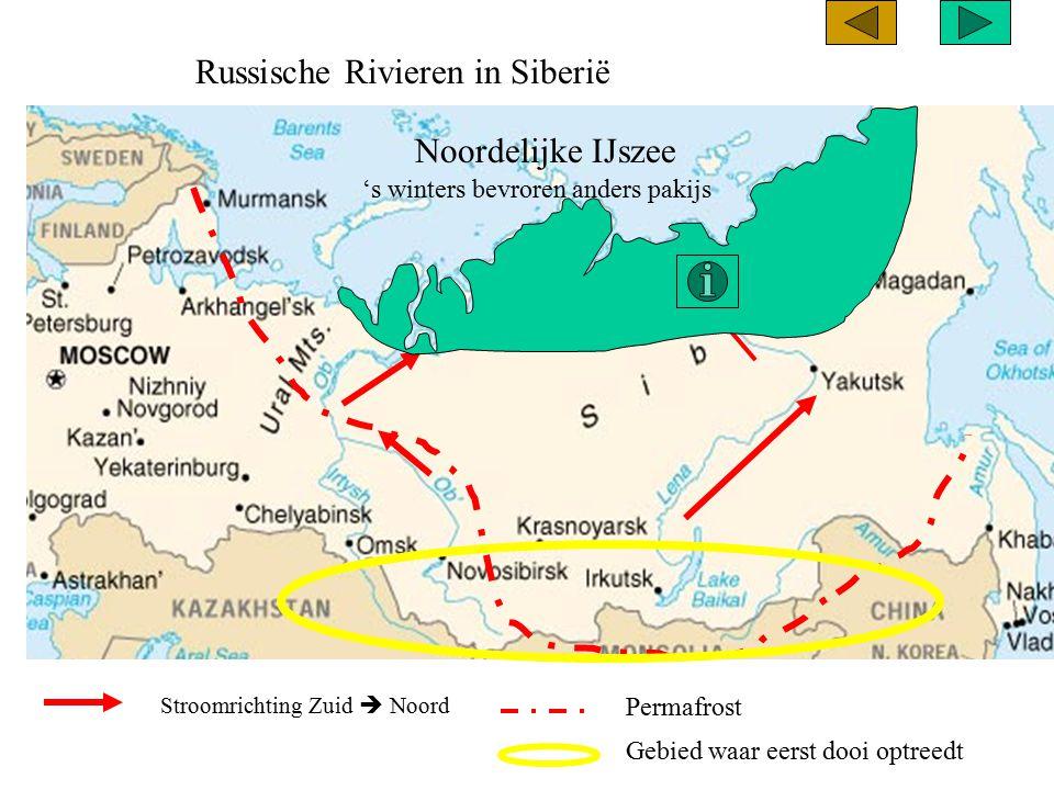 Russische Rivieren in Siberië