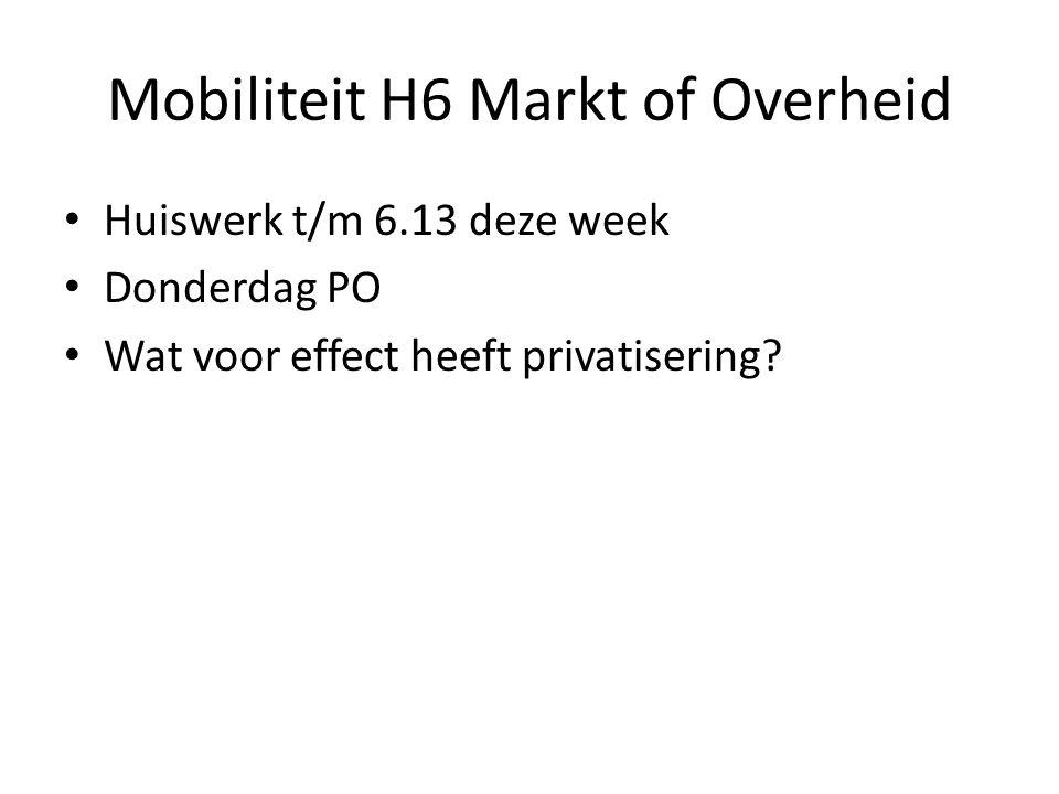 Mobiliteit H6 Markt of Overheid