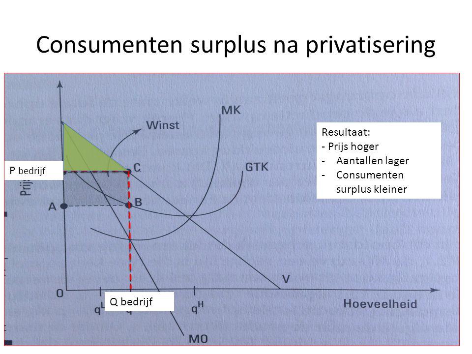 Consumenten surplus na privatisering