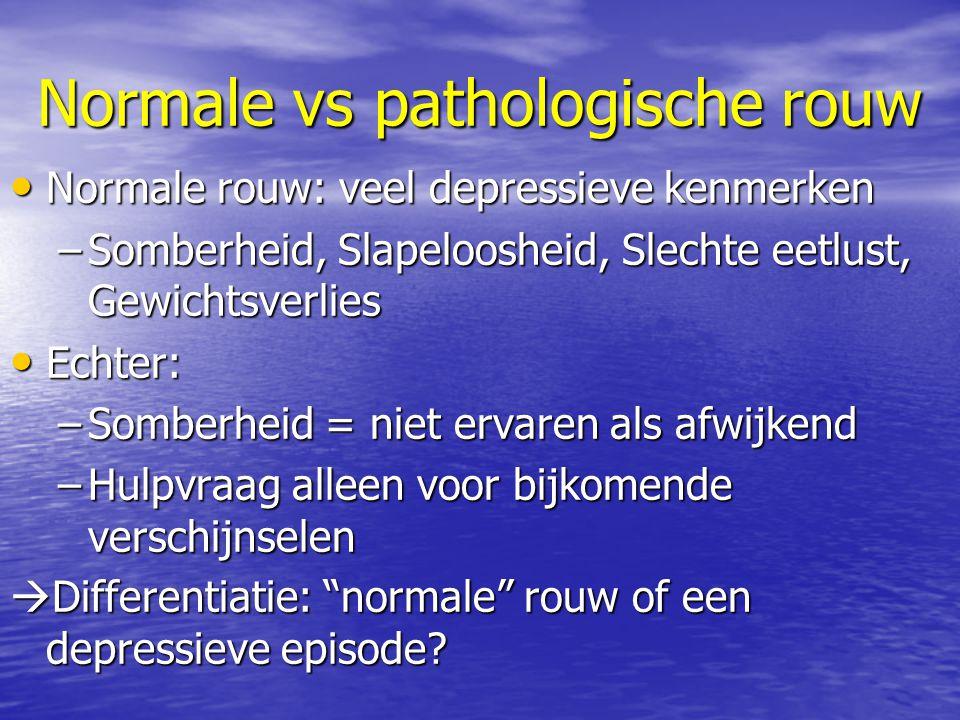 Normale vs pathologische rouw