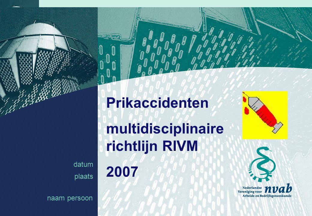 multidisciplinaire richtlijn RIVM
