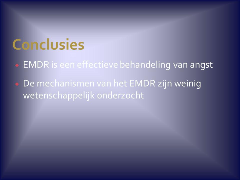 Conclusies EMDR is een effectieve behandeling van angst