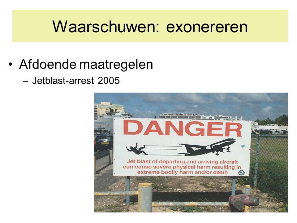 Waarschuwen: exonereren