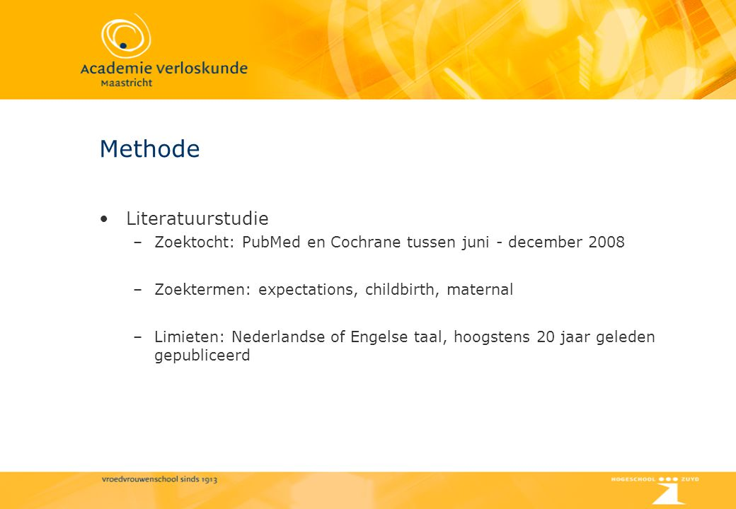 Methode Literatuurstudie