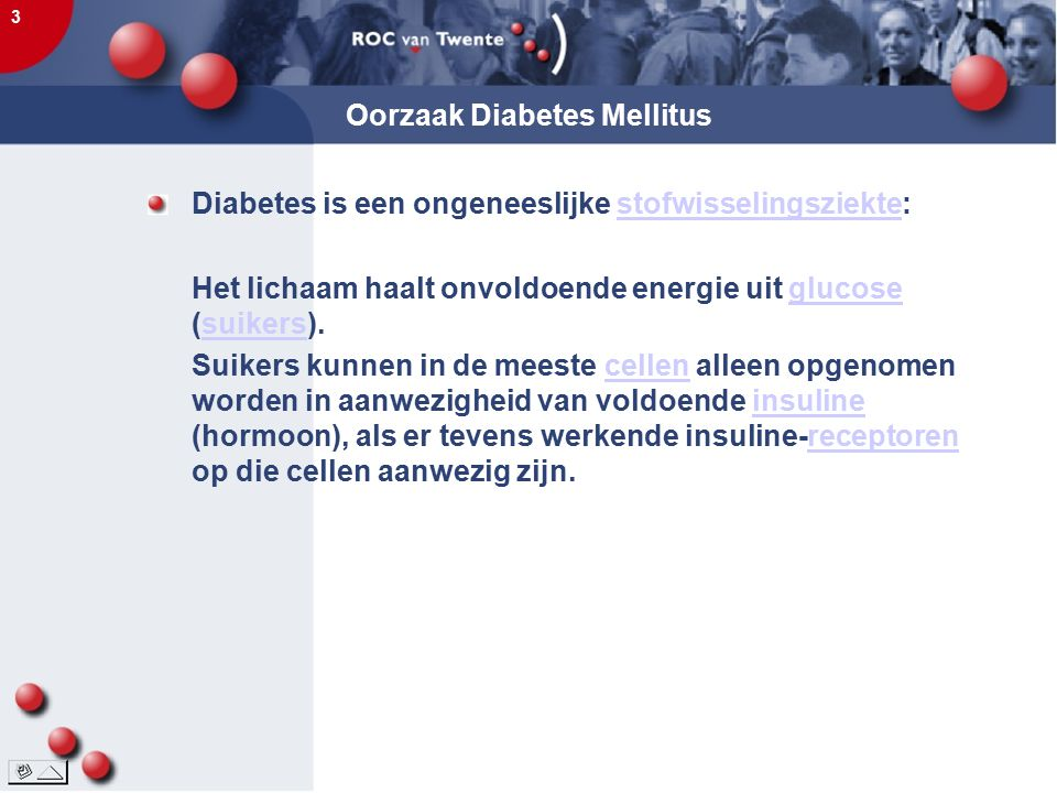 Oorzaak Diabetes Mellitus