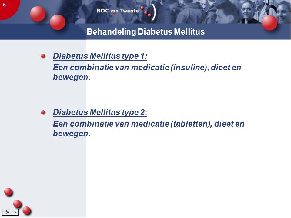 Behandeling Diabetus Mellitus