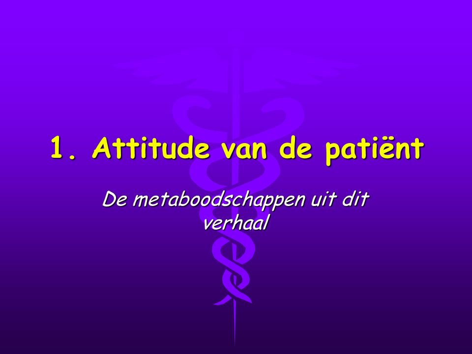 1. Attitude van de patiënt