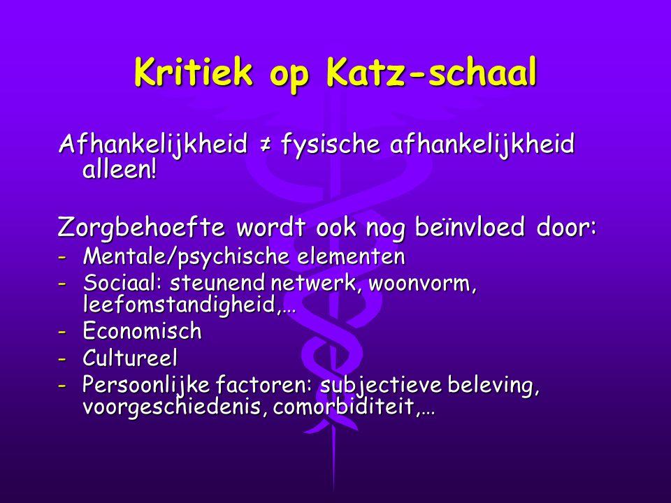Kritiek op Katz-schaal