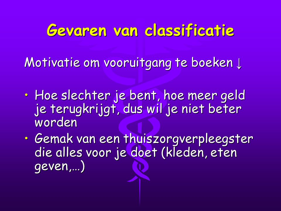 Gevaren van classificatie