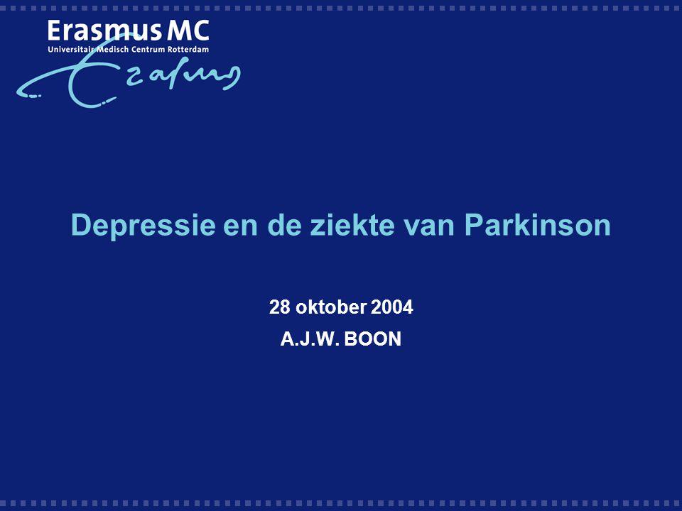 Depressie en de ziekte van Parkinson