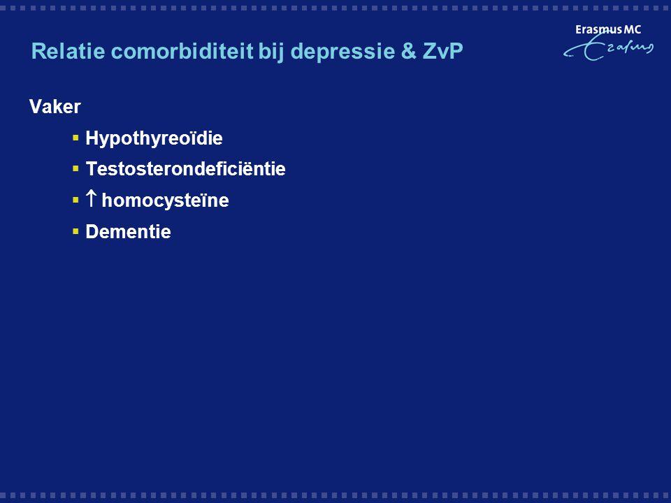 Relatie comorbiditeit bij depressie & ZvP