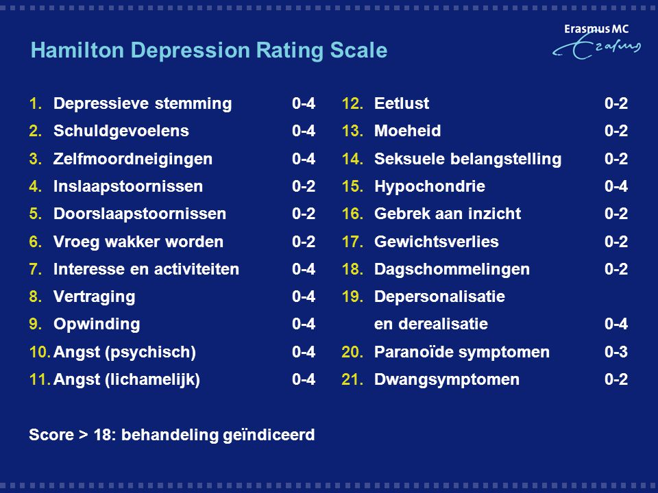 Hamilton Depression Rating Scale