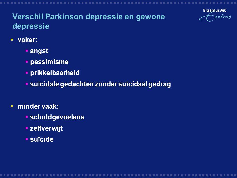 Verschil Parkinson depressie en gewone depressie