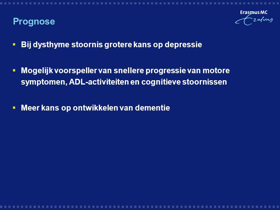 Prognose Bij dysthyme stoornis grotere kans op depressie