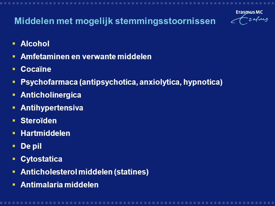 Middelen met mogelijk stemmingsstoornissen