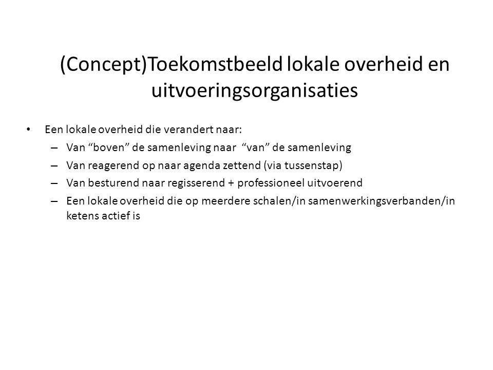 (Concept)Toekomstbeeld lokale overheid en uitvoeringsorganisaties