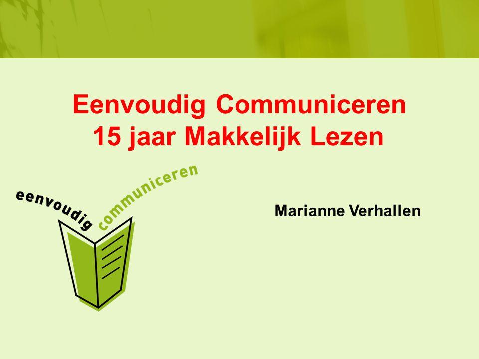 Eenvoudig Communiceren 15 jaar Makkelijk Lezen