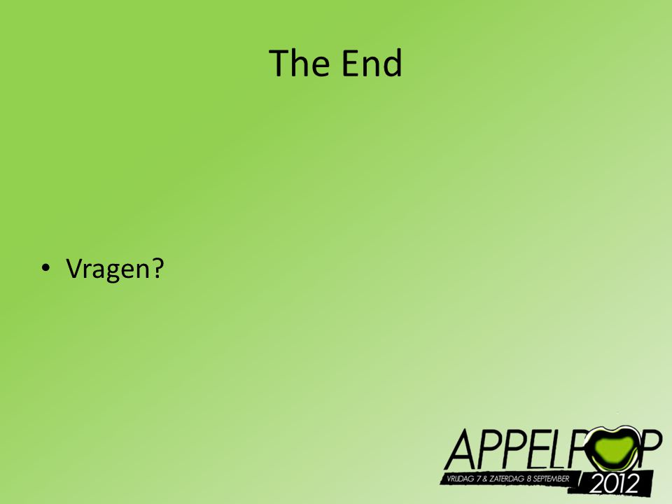 The End Vragen
