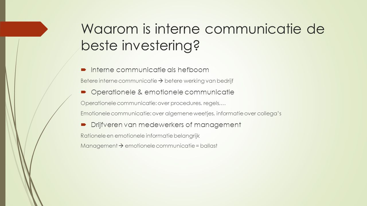 Waarom is interne communicatie de beste investering