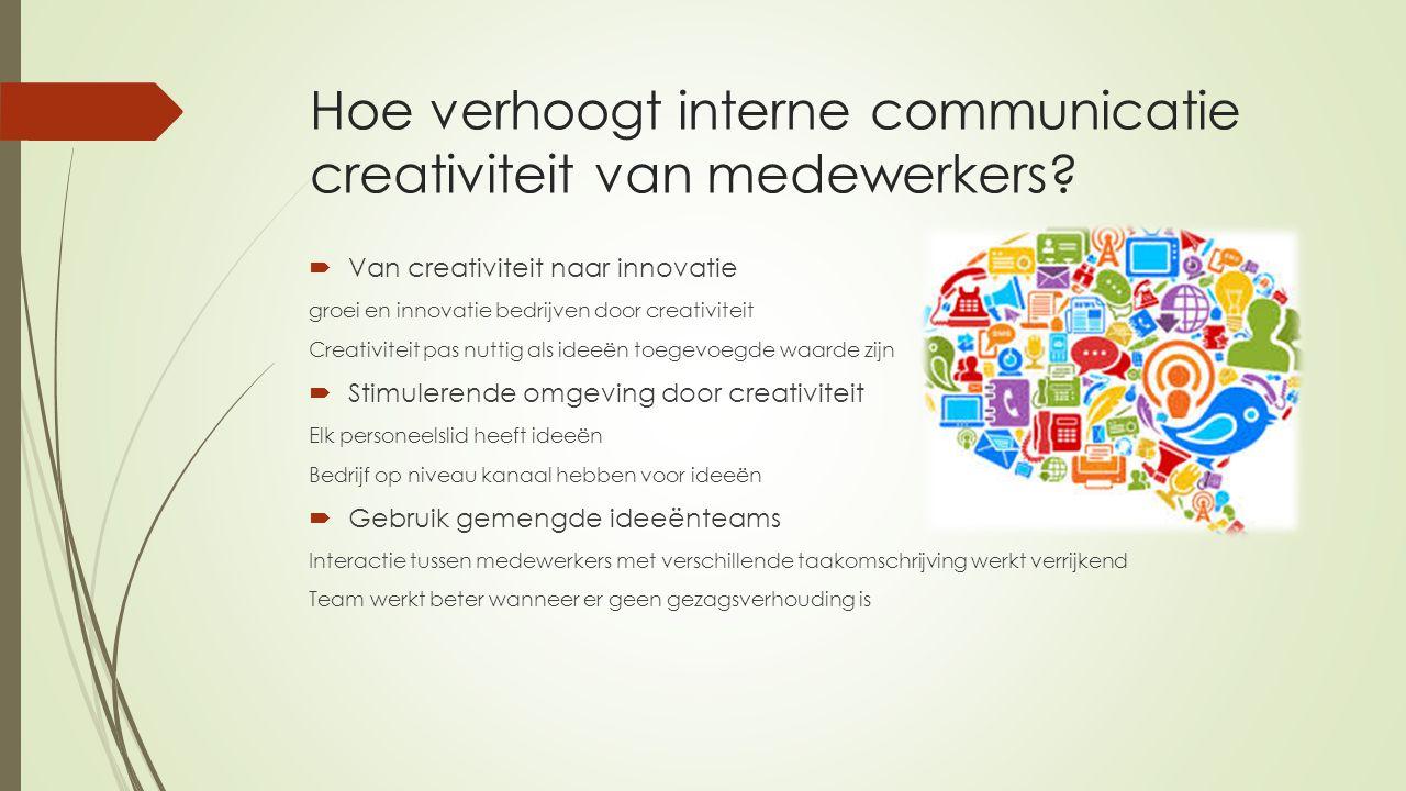 Hoe verhoogt interne communicatie creativiteit van medewerkers