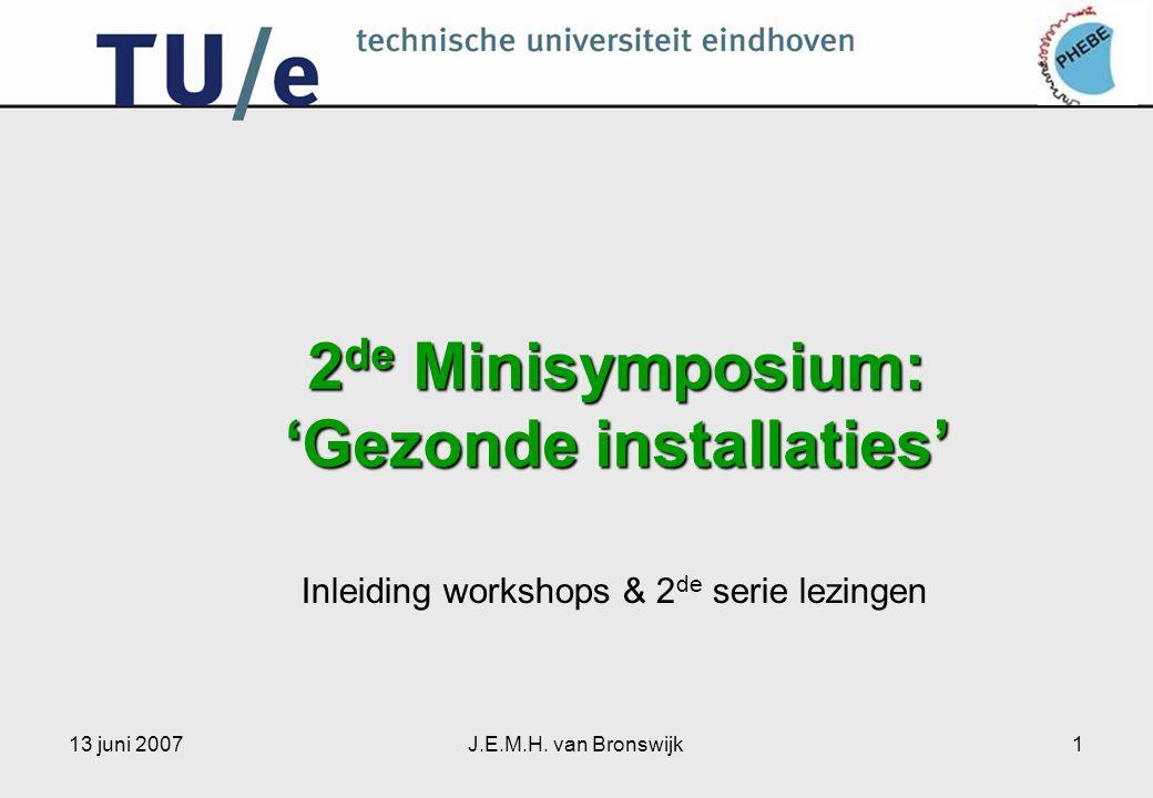 2de Minisymposium: 'Gezonde installaties'