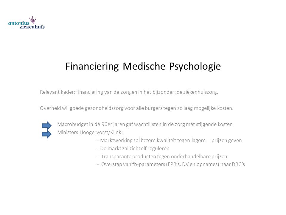 Financiering Medische Psychologie