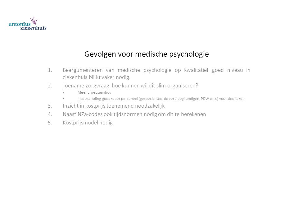 Gevolgen voor medische psychologie