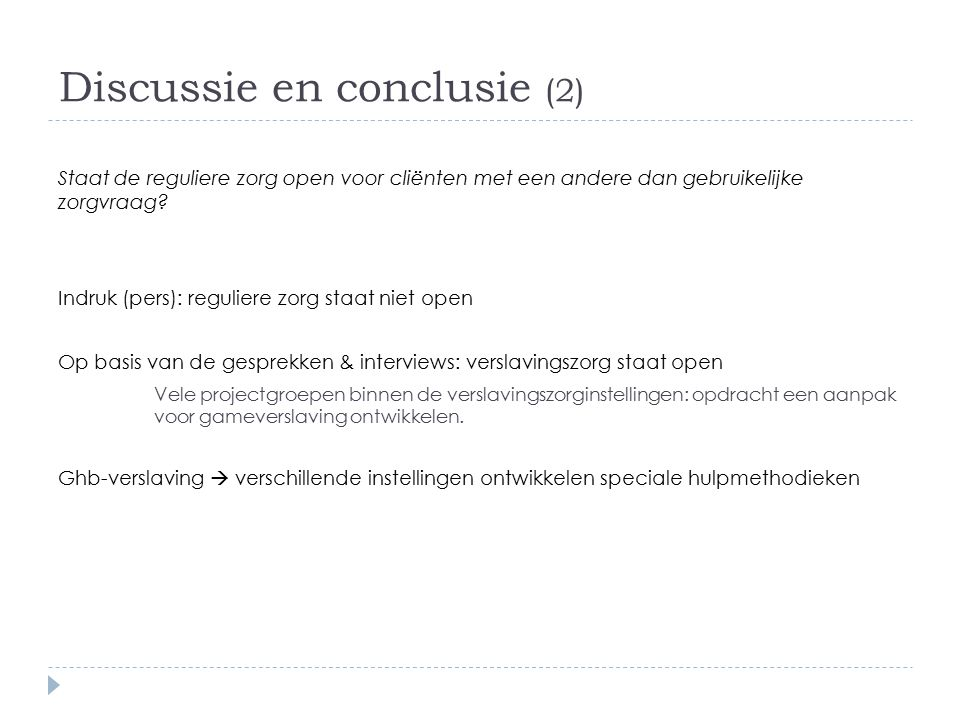 Discussie en conclusie (2)