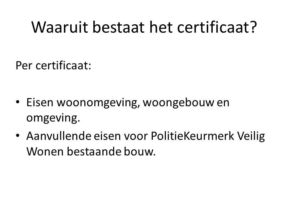Waaruit bestaat het certificaat